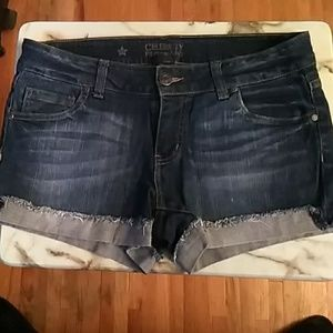 Celebrity Pink Cuffed Denim Shorts Jr's Size 11